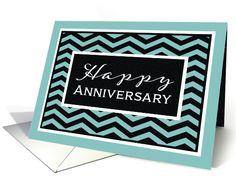 Happy Anniversary, Business Anniversary Card, Chevron card