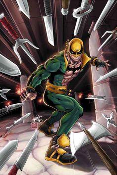 Iron Fist Cover: Iron Fist Marvel Comics Poster - 30 x 46 cm Films Marvel, Marvel Comics Art, Marvel Comic Books, Comic Book Characters, Comic Book Heroes, Marvel Characters, Marvel Heroes, Comic Character, Netflix Marvel