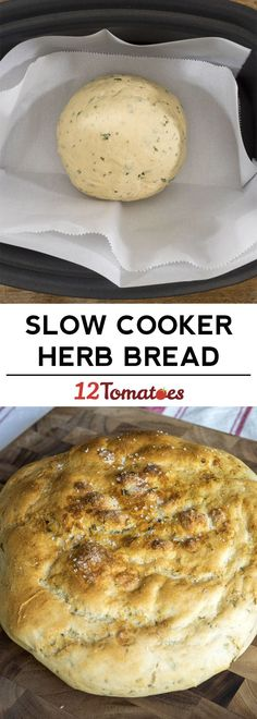 This cooker herb bread Crockpot Slow cooker bread, Crock pot bread, Slow cooker recipes is a good for your dinner made with wholesom. Crock Pot Bread, Slow Cooker Bread, Crock Pot Slow Cooker, Crock Pot Cooking, Bread Crockpot, Slow Cooker Recepies, Cooker Recipes, Crockpot Recipes, Yummy Recipes