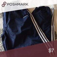 Adidas athletic pant Lined wind pant with zippers at elastic ankles side pockets. Drawstring at elastic waist Adidas Pants Sweatpants & Joggers