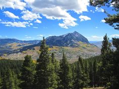 View of Mt. Crested Butte from Snodgrass Mountain