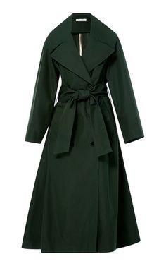 Knee Length Trench Coat by Oscar de la Renta | Moda Operandi