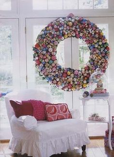 This wreath is HUGE!  Where would I store it after Christmas?!...