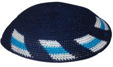 Dark Blue Crochet Kippah KNT-DBM302N