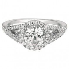 Martin Flyer FlyerFit Bridal Micropave Engagement Ring Vintage Cut Down