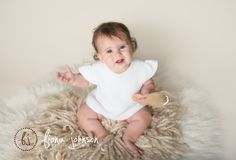 One of the few we got of this adorable little 6 Monther before she decided she didn't like the camera...lol! Looking forward to seeing her again soon for Take 2!  #ctbabyphotographer #6monthold #sittersession