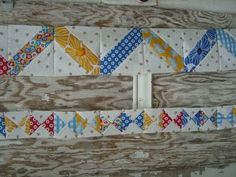 cool idea for a pieced quilt border!
