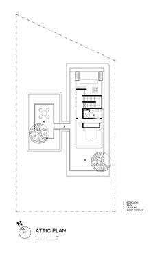 Travertine Dream House,attic plan