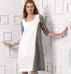 Marcy Tilton for Vogue Patterns, comes in sizes up to 24. V9081, Misses' Cardigan and Dress