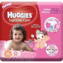 Pacote de Fraldas com 52 unidades Turma da Mônica Supreme Care Meninas XG Huggies