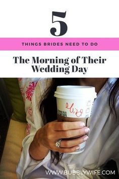 Every bride needs to do these 5 things for a stress-free morning on their wedding day!
