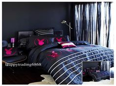 Beach House Furniture, House Furniture Design, White Granite Colors, Versace Bedding, Bunny Room, Cheap Bedding Sets, Teen Girl Rooms, Apt Ideas, Playboy Bunny
