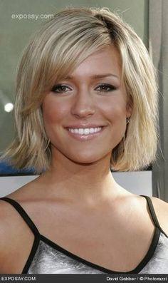 Chin Length Hairstyles With Bangs | chin length bob with layered bangs. | Short Haircuts