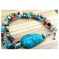 Check out this item in my Etsy shop https://www.etsy.com/listing/241071026/boho-beaded-bracelet-turquoise-beaded
