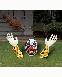 1.2 Ft Evil Clown Ground Breaker - Decorations