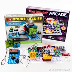 Harness your mind and your creative spirit with Smart Circuits. Featuring an unlimited amount of projects, this cool kit is perfect for children and adults over the age of eight. It contains pieces like a speaker, a light sensor, push buttons, and a tri-color LED, so build and play to your heart's content! Unique Gifts For Boys, Gifts For Him, Craft Activities For Kids, Crafts For Kids, Snap Circuits, Light Sensor, Hobby Lobby, Girl Dolls, Party Ideas
