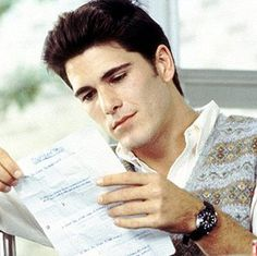 A cut scene that's sometimes shown in TV airings of Sixteen Candles: Jake in the cafeteria, reading Samantha's survey. (click thru for scene.)