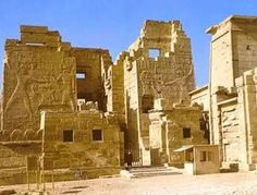 Next to their temple, Ramesses III built his mortuary temple, Medinet Habu's most conspicuous standing monument