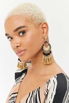 Ornate Tassel Drop Earrings | Forever21