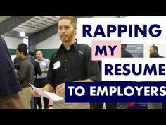 STUDENT RAPS RESUME AT CAREER FAIR - YouTube