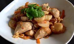 Enkel og kjapp kyllingwok med nudler