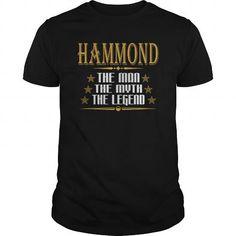 I Love HAMMOND THE MAN THE MYTH THE LEGENDS T-SHIRTS T shirts