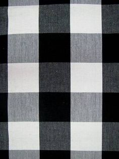 "Ummm, yeah...I would have to walk around calling my chairs by their fabric name: Wild Bill Black Jack | 100% cotton multi purpose yarn dye canvas weight 2.25"" gingham check. 54"" wide $18.95/yard"