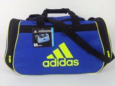 NWT ADIDAS Diablo Medium II Duffel Blue/Yellow/Black Gym Bag Carry On Luggage #adidas #DuffleGymBag #ebay #adidas #DuffleGymBag #DiabloMediumII