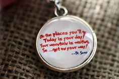Dr Seuss Oh The Places You'll Go  double sided by KitschyKooDesign, $20.00