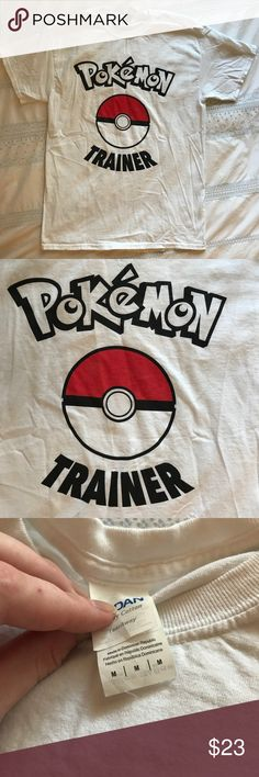 Pokémon Trainer T-shirt Do you wanna be the very best, like no one ever was? Is to catch Pokémon your real quest, and is training them your cause? Then this shirt is for you. Worn once, washed once. I like size Large T-shirt's, and this one is too small! Give this guy a home! Tops Tees - Short Sleeve