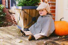 Little Boy Sherlock Holmes Halloween Costume - Fall Photo Shoot - Xan's Eye Photography - Xan Craven