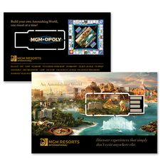 MGM wanted a cool way to connect with meeting planners and corporate event decision makers. They also have cool monopoly themed promotion including gamification and social rewards. The BuzzCard is the perfect invitation to this cool interactive experience