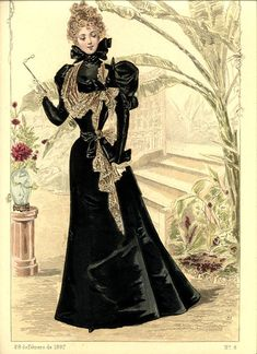 (Lady Bracknell) A-symmetrical lace drape! darling victorian fashion