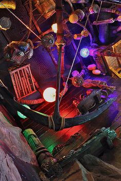 This is what a tiki bar ceiling should look like... Smuggler's Cove, San Francisco