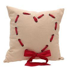 A46 Organization Home Collection Kırmızı Cute Heart Gabardin Yastık - netlence.com