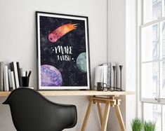To the moon and back printable moon art Moon and stars Moon Kitchen Artwork, Kitchen Posters, Kitchen Prints, Kids Homework Room, Kids Room, Nursery Artwork, Coffee Poster, Kids Poster, Kids Prints