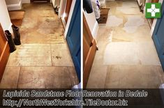This customer who lived in the old North Yorkshire market town of Bedale, had a Lapicida Sandstone floor installed many years prior and over the years the sealer had worn off and dirt had become ingrained into the pores of the stone making it dull and difficult to clean effectively. Based in Harrogate, where they have Europe's largest stone gallery, Lapicida are a premier Tile and Stone company that specialise in reclaimed Sandstone with prices that range from £79 to £594 per square metre.