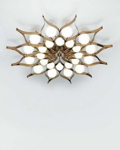 GIO PONTI - Monumental chandelier, for the Hotel Parco dei Principi, Rome, ca. 1964. Frosted glass, brass. 23 1/4 in. (59 cm.) drop, 81 7/8 in. (208 cm.) diameter. Manufactured by Arredoluce, Italy.