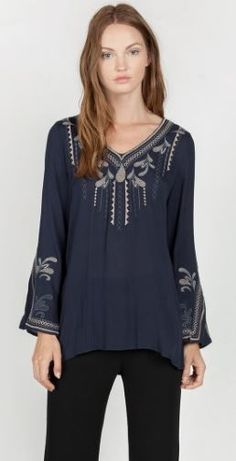 bfb80ef3b87e4 Umgee-9801 Navy tunic available at Trees n Trends Fashion Boutique