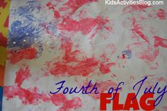 Teach about Independence Day  and then make a 4th of July Craft- Get ready to make your flag!