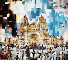 modern collages created using old-fashioned method: Photographs, scissors and sellotape Photographic collages by Adrian BrannanPhotographic collages by Adrian Brannan A Level Photography, Photography Collage, Photography Themes, Urban Photography, Texture Photography, Urbane Fotografie, Art Alevel, Multiple Exposure, A Level Art