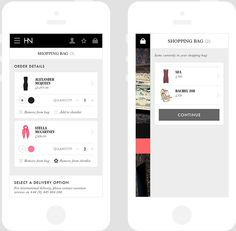 Harvey Nichols mobile on App Design Served