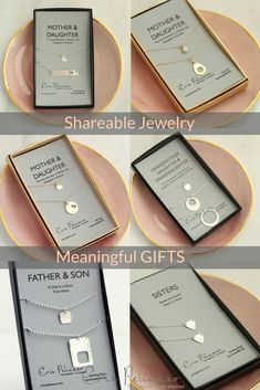 Meaningful Jewelry to Share! Mother Daughter Necklace Sets, Sisters Jewelry, Father Necklace. Christmas Gifts for your family