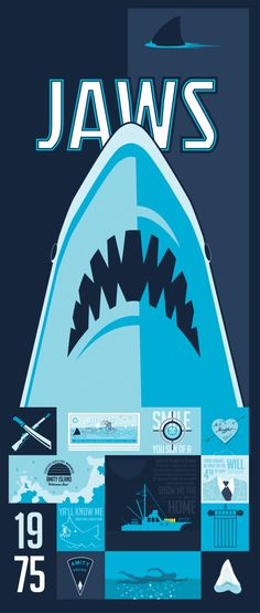 Jaws Poster | By: Tim Weakland, via Behance