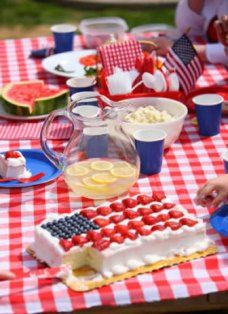 Four 4th of July old fashioned picnic