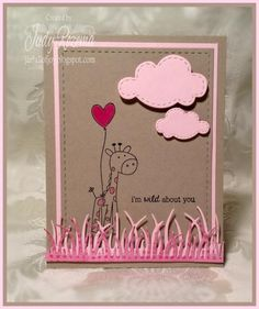 FS402 Pink Giraffe HYCCT1413 by StampingQueenJAR - Cards and Paper Crafts at Splitcoaststampers