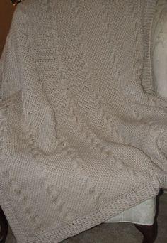 Kimane Designs - Nautical Waves Afghan - Tunisian Crochet