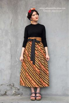 Batik Amarillis made in Indonesia www.batikamarillis-shop.com proudly presents Batik Amarillis's Primavera skirt  A beautiful and unique versatile wrap skirt   which you can wear with different ways, you can ever wear it as bustier wrap dress too!