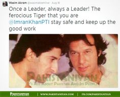 Wasim Akram restoring his bond with his old and amazing teammate and friend Imran Khan, and supporting him and his party.