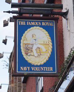 Pub Sign Art a la cARTe: The Famous Royal Navy Volunteer, Bristol